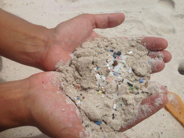 Plastics in the form of microplastics